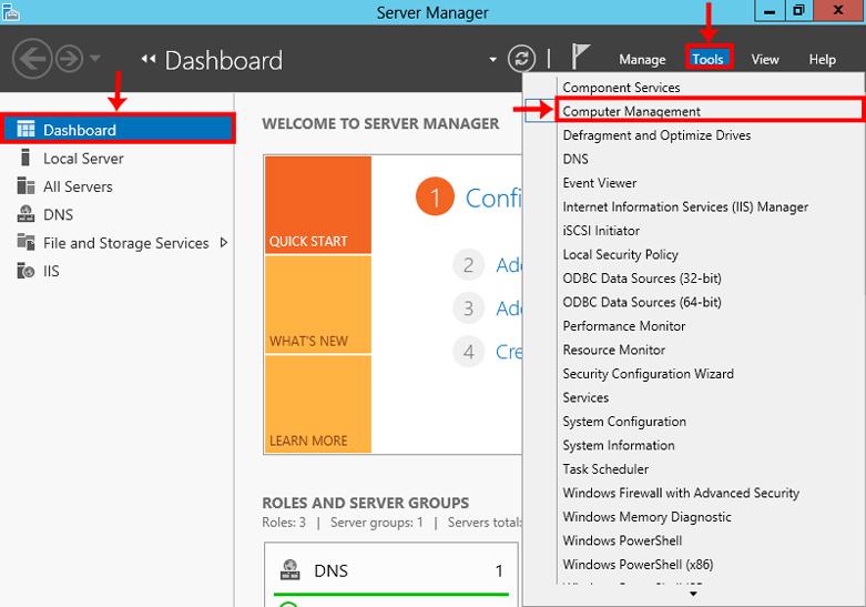 1 2 - نحوه تغییر رمز اکانت Administrator در ویندوز سرور 2012
