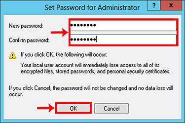 3 1 - نحوه تغییر رمز اکانت Administrator در ویندوز سرور 2012
