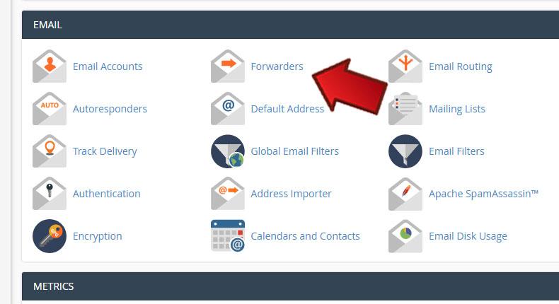 Forwarders1 1 - آموزش Forward کردن ایمیلها در Cpanel