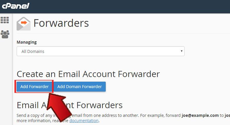 Forwarders2 1 - آموزش Forward کردن ایمیلها در Cpanel