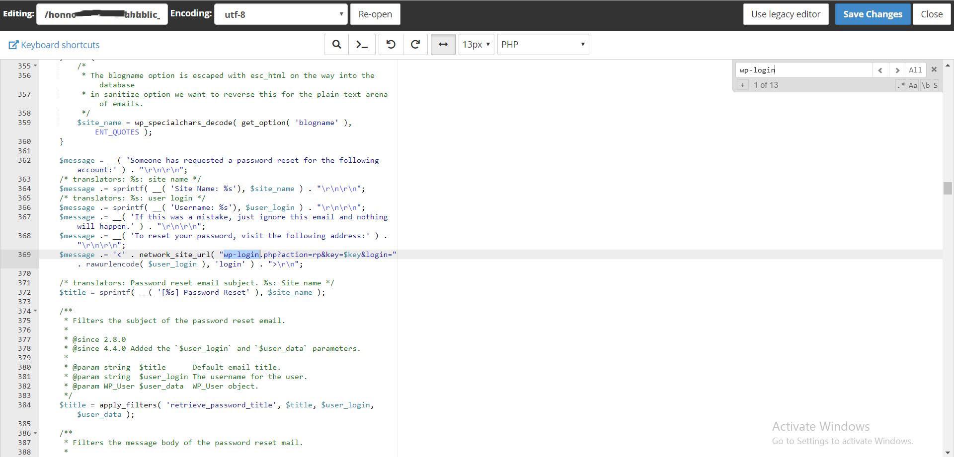 wp login3 1 - تغییر لینک ورود wp-admin در وردپرس