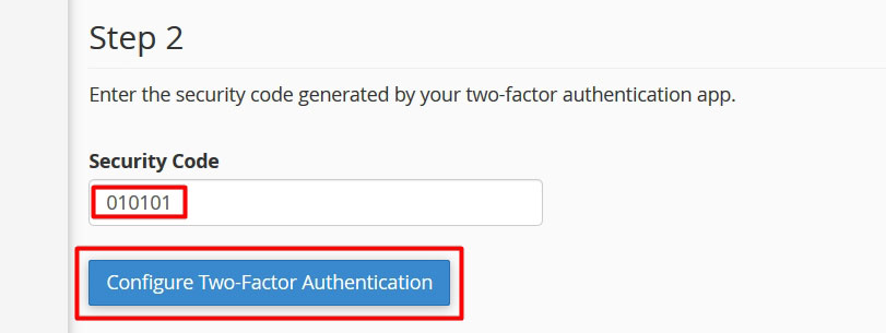 cpanel two factor authentication enable 1 - آموزش تایید دو مرحله ای - Two Step Verification سی پنل