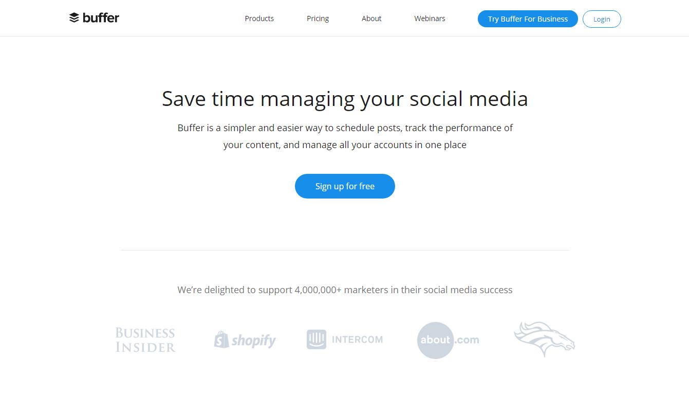Buffer - ابزارهای تجزیه و تحلیل وب سایت