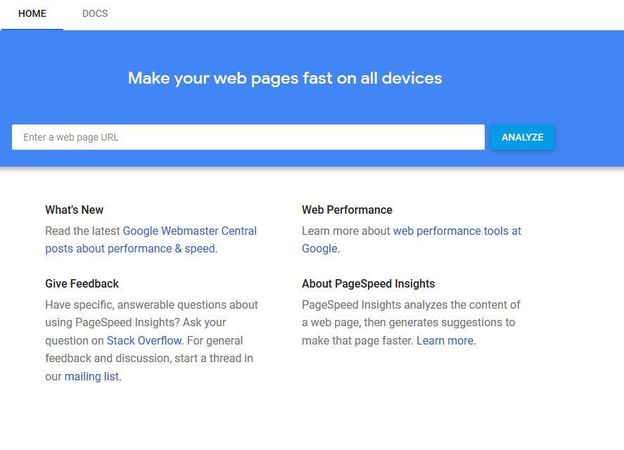 Google Page Speed Insights - ابزار های تست سرعت سایت