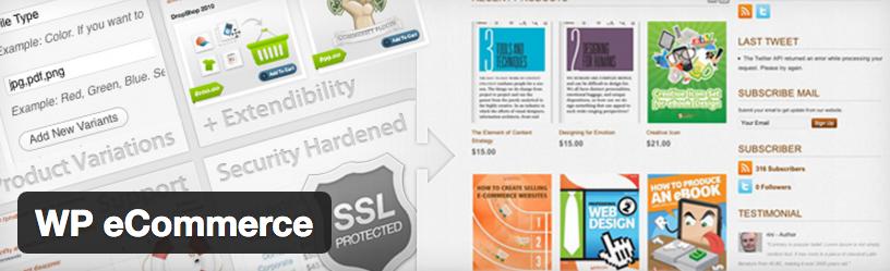 WP eCommerce - بهترین افزونه های فروشگاه اینترنتی وردپرس
