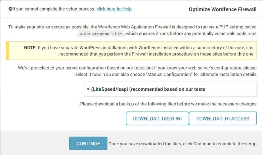 setup wordfence 4 - اسکن و افزایش امنیت وردپرس با افزونه wordfence