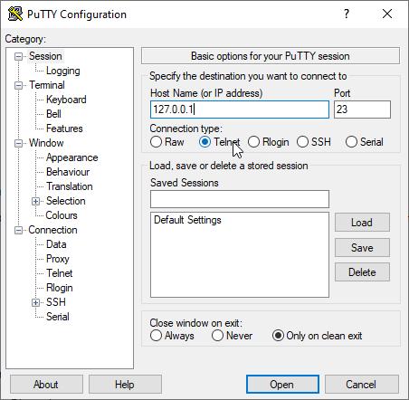 telnet Putty - اتصال به میکروتیک