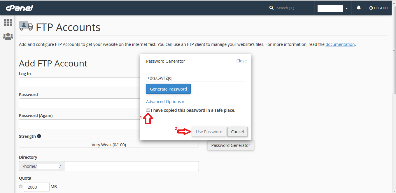 connect ftp03 - آموزش ساخت اکانت FTP برای سی پنل (cPanel)