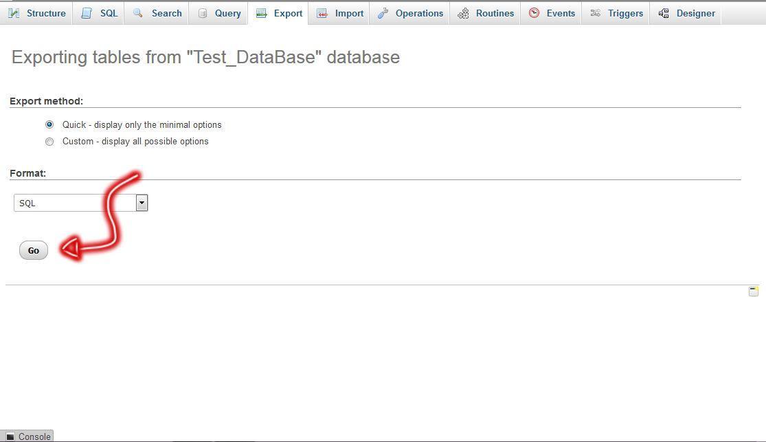 export database02 - بک آپ گیری و ایمپورت کردن دیتابیس
