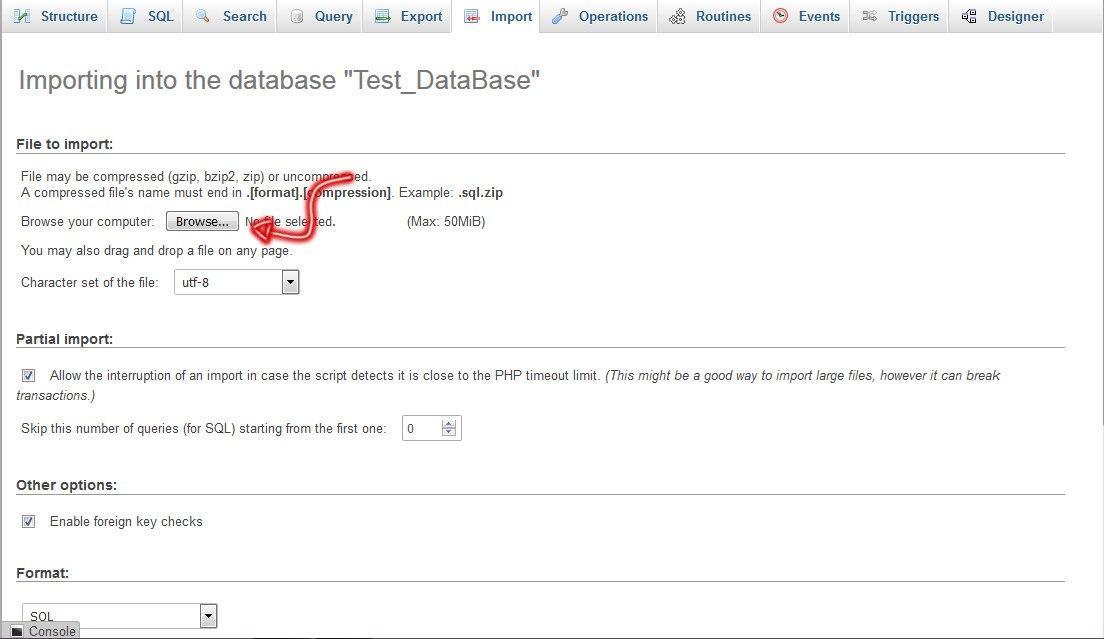 import database02 - بک آپ گیری و ایمپورت کردن دیتابیس