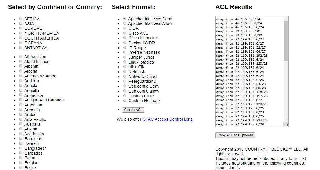 block or allow to site using htaccess02 - مسدود کردن دسترسی به وبسایت از کشور های مختلف