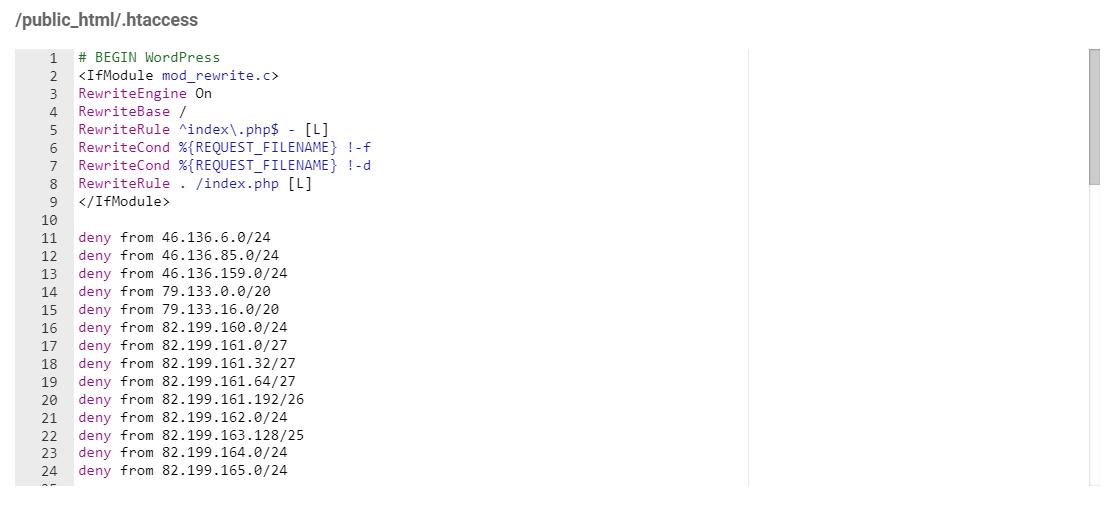 block or allow to site using htaccess03 - مسدود کردن دسترسی به وبسایت از کشور های مختلف