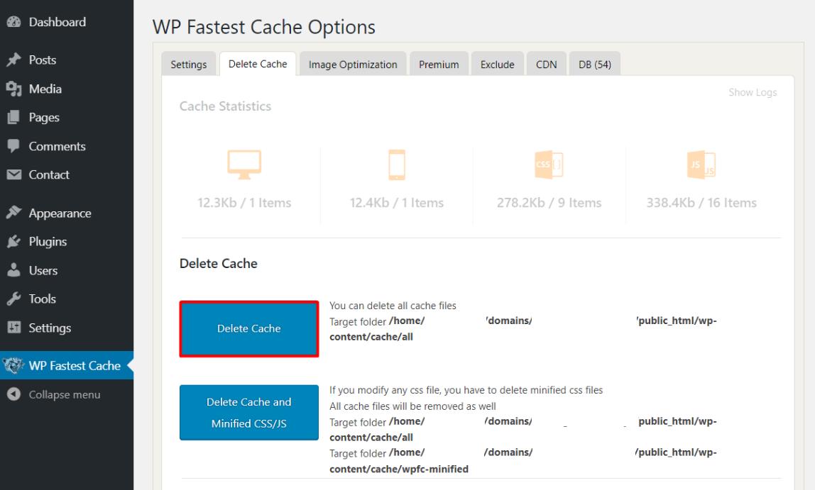 clear wp cache06 - نحوه حذف کش در وردپرس