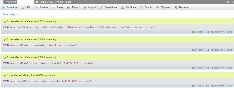 change wordpress url in mysql database phpmyadmin05 - نحوه تغییر URL های وردپرس در MySQL با استفاده از phpMyAdmin