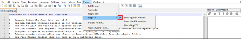connect to ftp with notepad02 - نحوه اتصال به FTP با Notepad ++