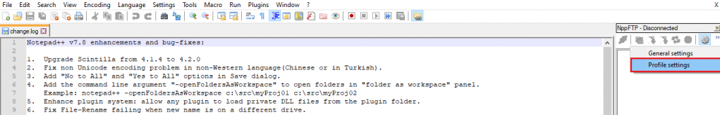 connect to ftp with notepad03 - نحوه اتصال به FTP با Notepad ++