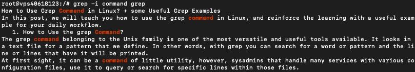grep command in linux 01 - نحوه استفاده از دستور Grep در Linux