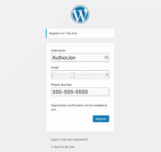 how to add additional user profile fields in wordpress registration10 - افزودن فیلد جدید به صفحه عضویت وردپرس