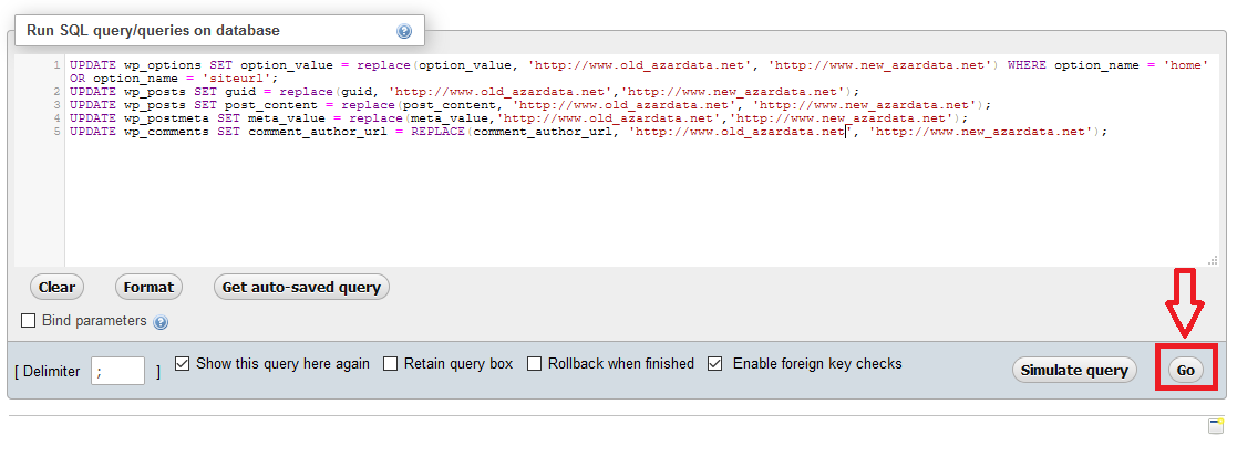 change site url in wordpress03 - نحوه تغییر آدرس سایت در وردپرس