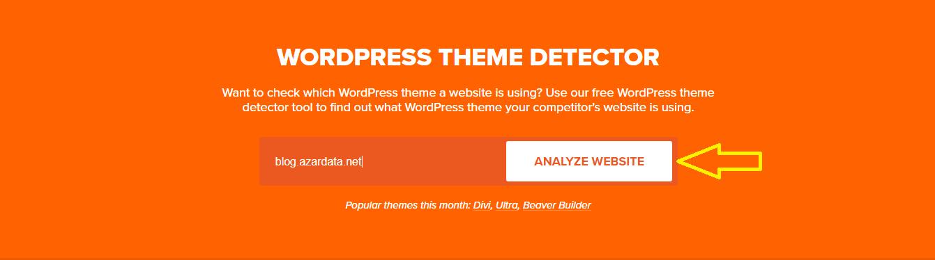 find which wordpress theme a site using01 - چگونه بفهمیم سایت موردنظر از چه قالبی استفاده میکند