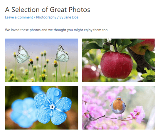 put images side by side in wordpress09 - چگونه تصاویر را در وردپرس کنار هم قرار دهیم