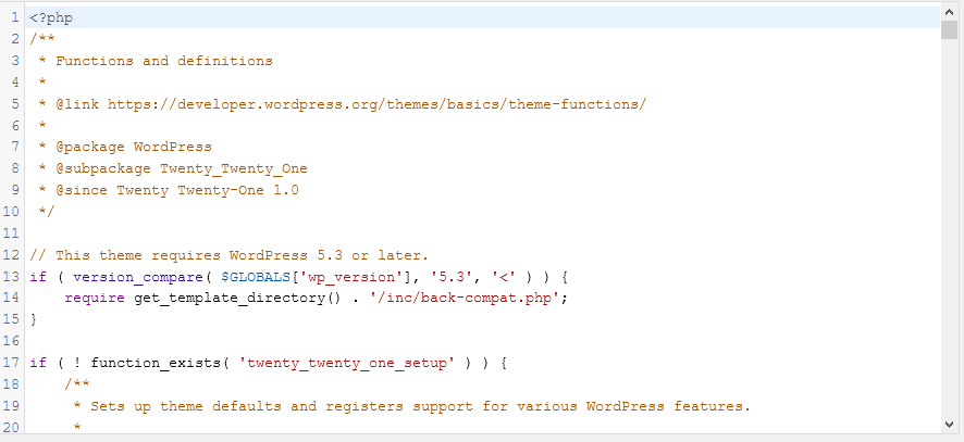 useful codes for functions file in wp01 - کد های کاربردی برای فایل فانکشن در وردپرس