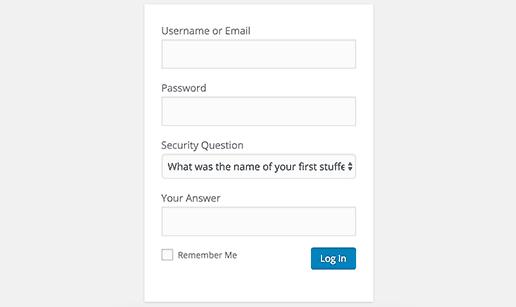 add security questions to wordpress login screen 03 - نحوه اضافه کردن سوالات امنیتی به صفحه ورود در وردپرس
