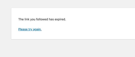 fix the link you followed has expired error in wordpress 01 - نحوه رفع ارور The Link You Followed Has Expired در وردپرس