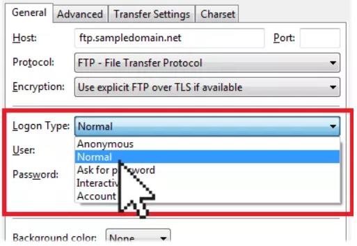 1554545 - آپلود فایل با برنامه FileZilla