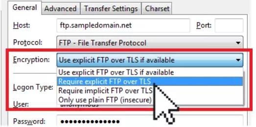 4848 - آپلود فایل با برنامه FileZilla